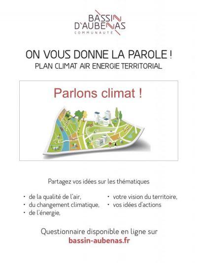 Affiche de l'enquête sur le climat