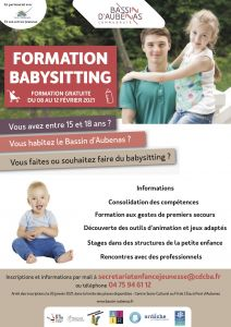 Affiche formation baby sitting