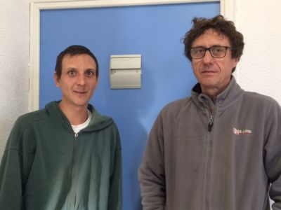 Cyril Gros et Denis Caselli