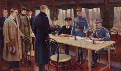 La signature de l'Armistice à Rethondes