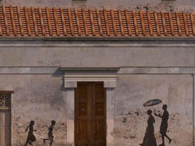 Une rue de Pompei reconstituée