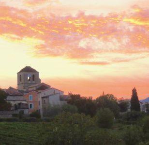 Vinezac au coucher du soleil